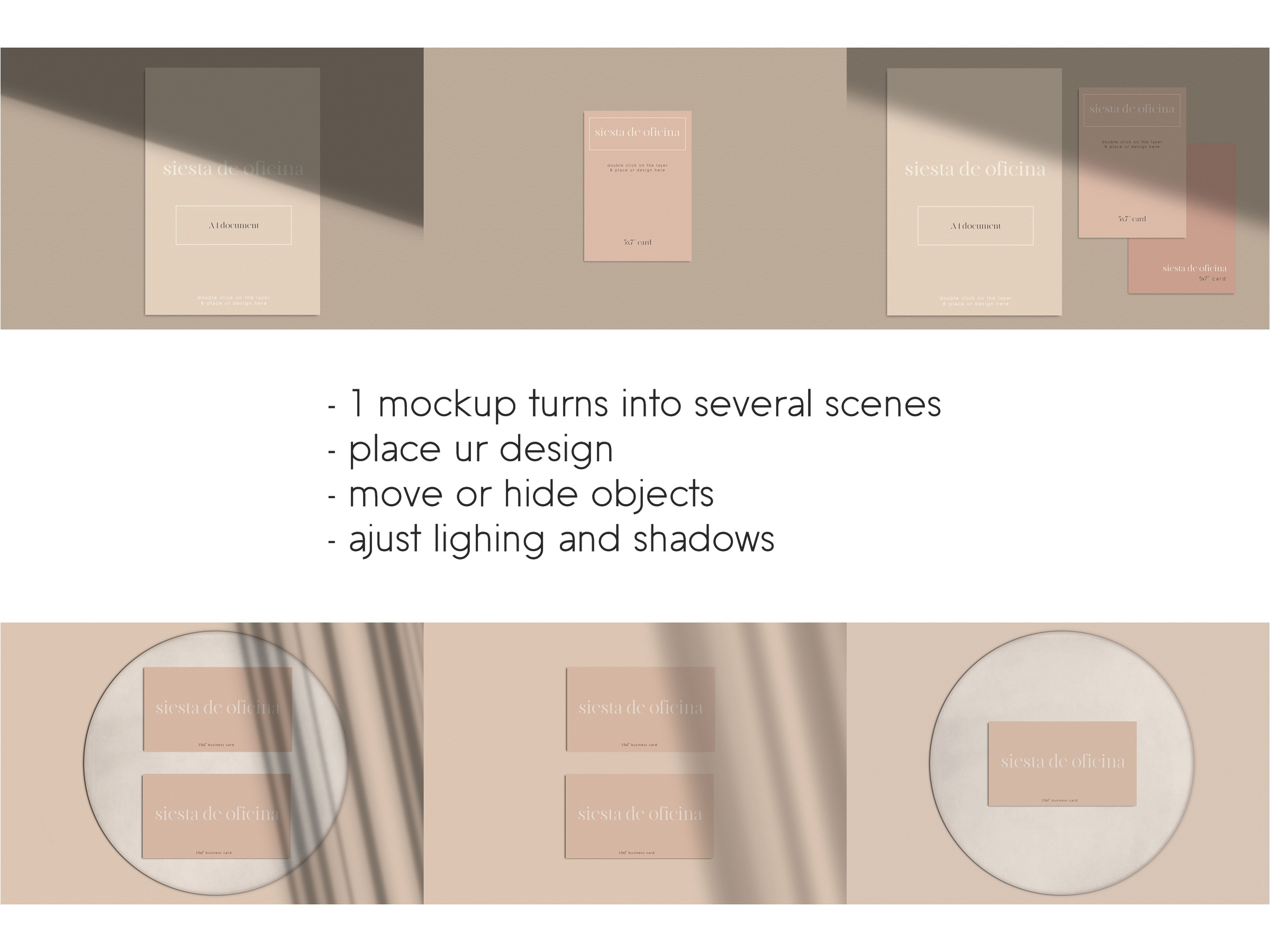 Stationery Scene Creator - Realistic Mockup example image 2