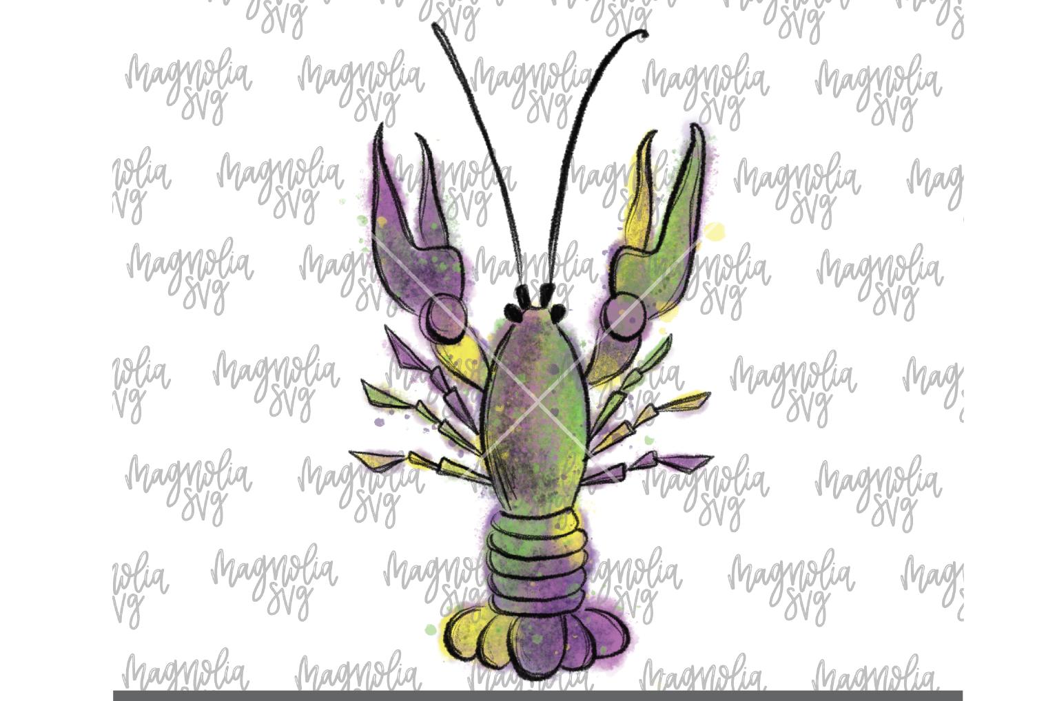Mardi Gras Crawfish Graphic for Sublimation - PNG & JPEG example image 1