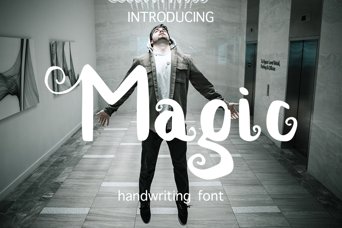 Magic handwritten brush font example image 1