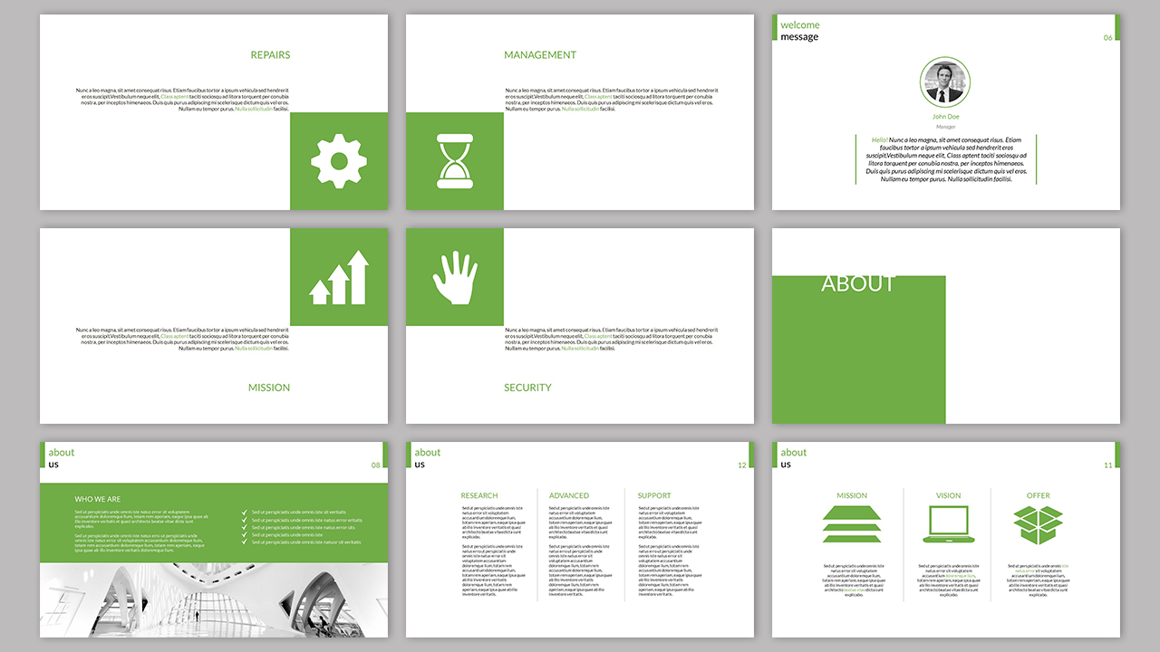 Clarity Company Minimal PowerPoint Template example image 7