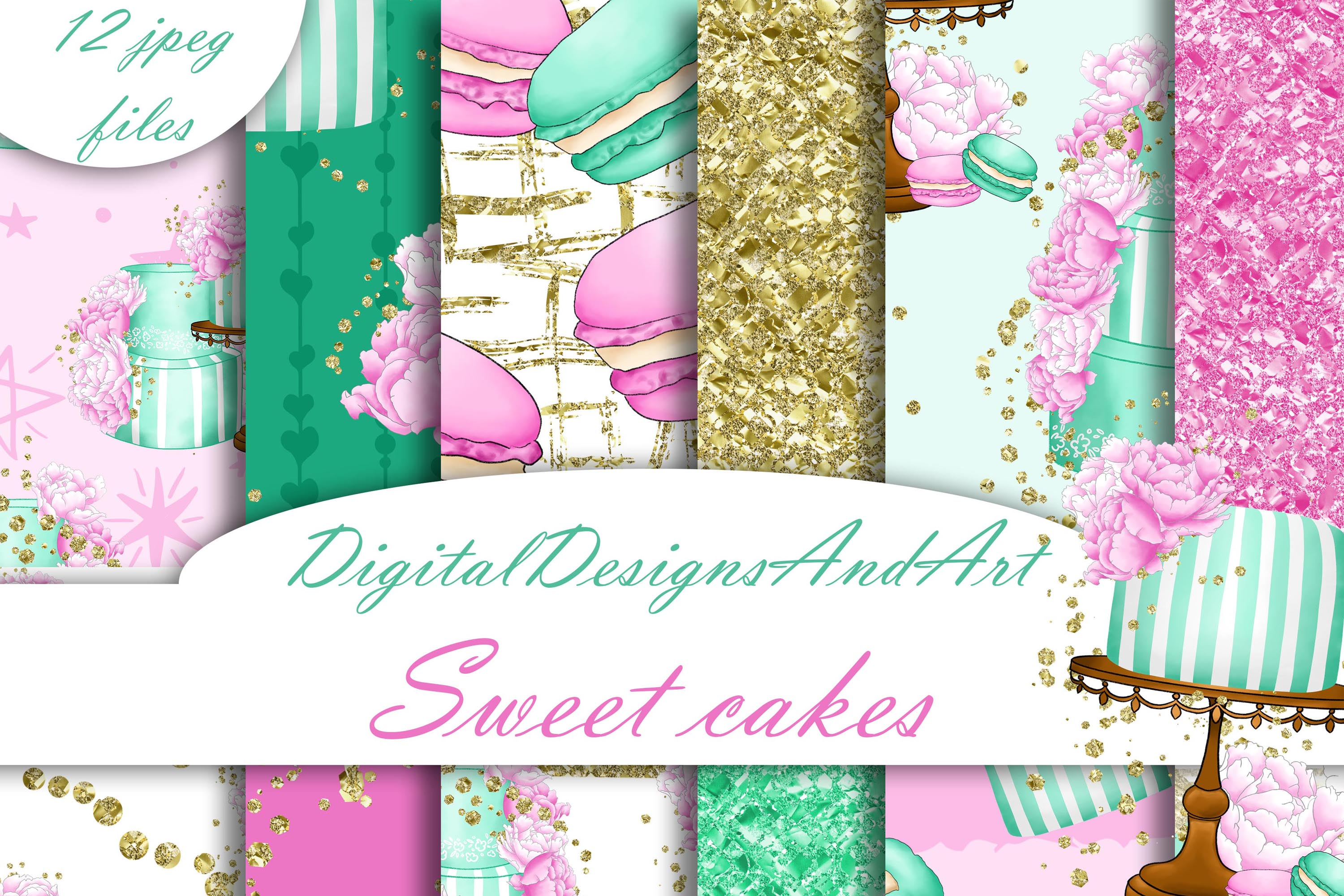 Sweet cakes patterns example image 1
