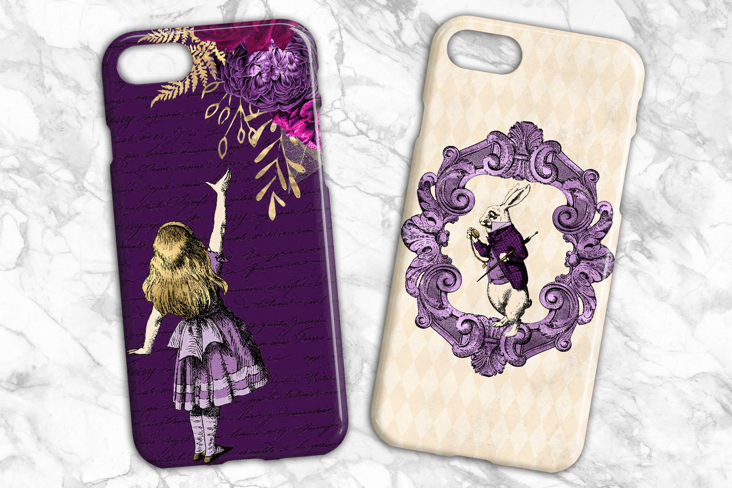 Purple and Gold Alice in Wonderland Graphics example image 4