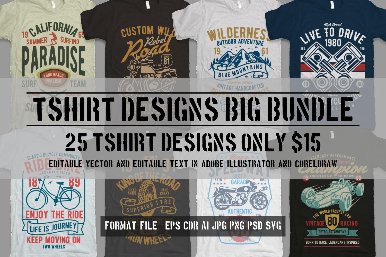 25 Premium Tshirt Designs Big Bundle 6 example image 1