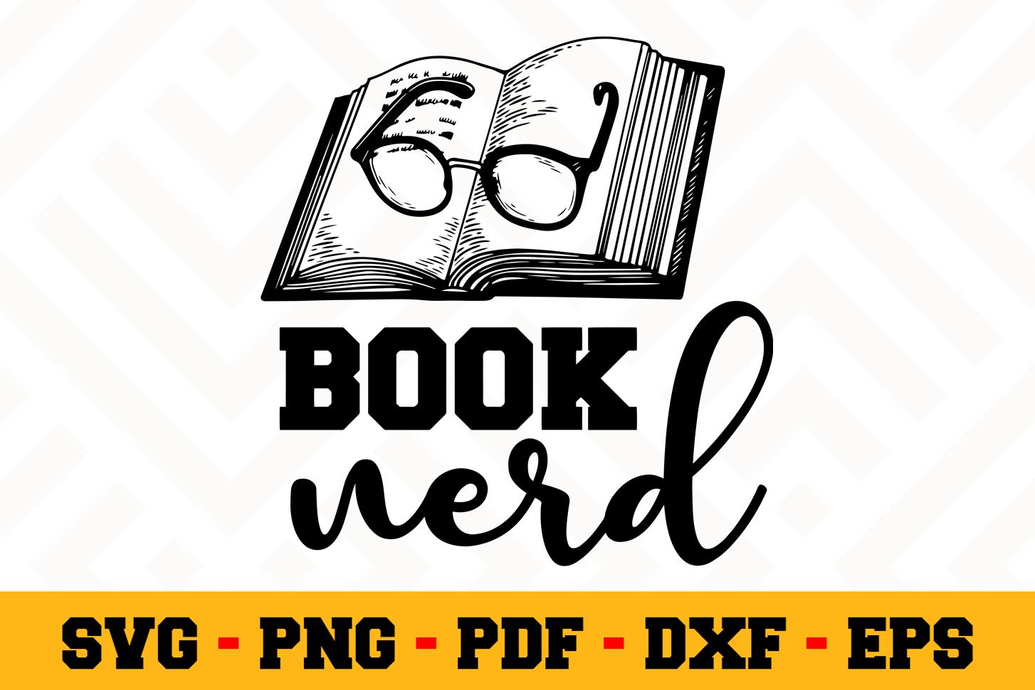 Book Lover SVG Design n617 | Reading SVG Cut File example image 1