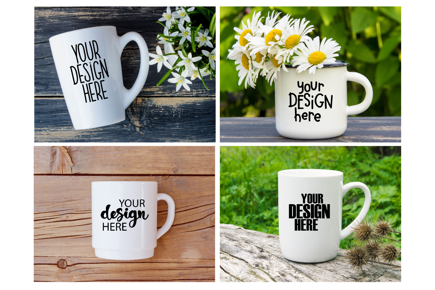 Mug mockup bundle 4, coffee cup, stock photo bundle example image 2