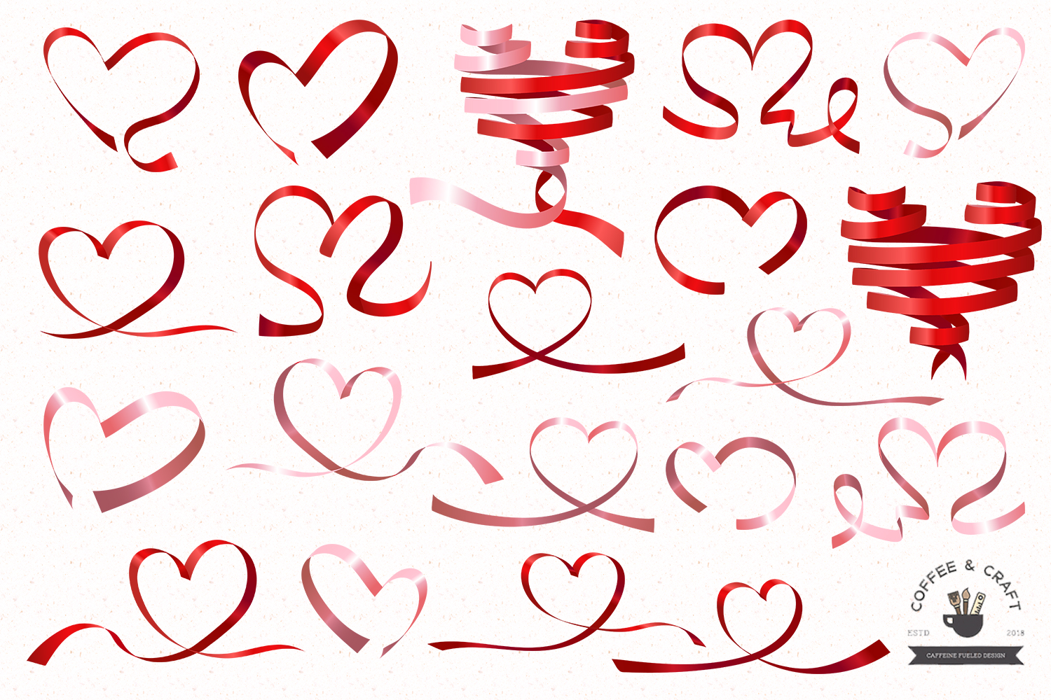 Heart ribbons example image 2