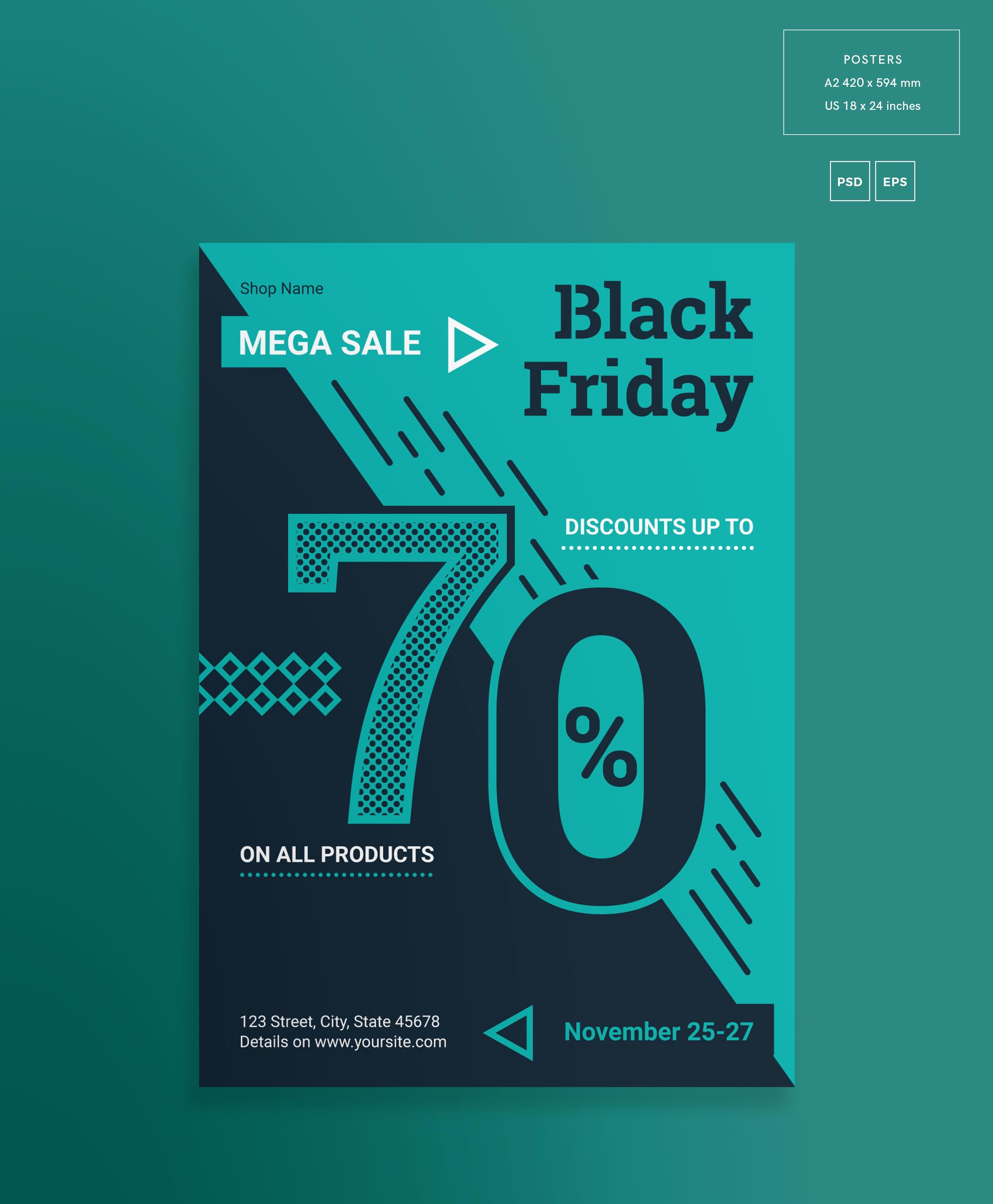Black Friday Sale Design Templates Bundle example image 3