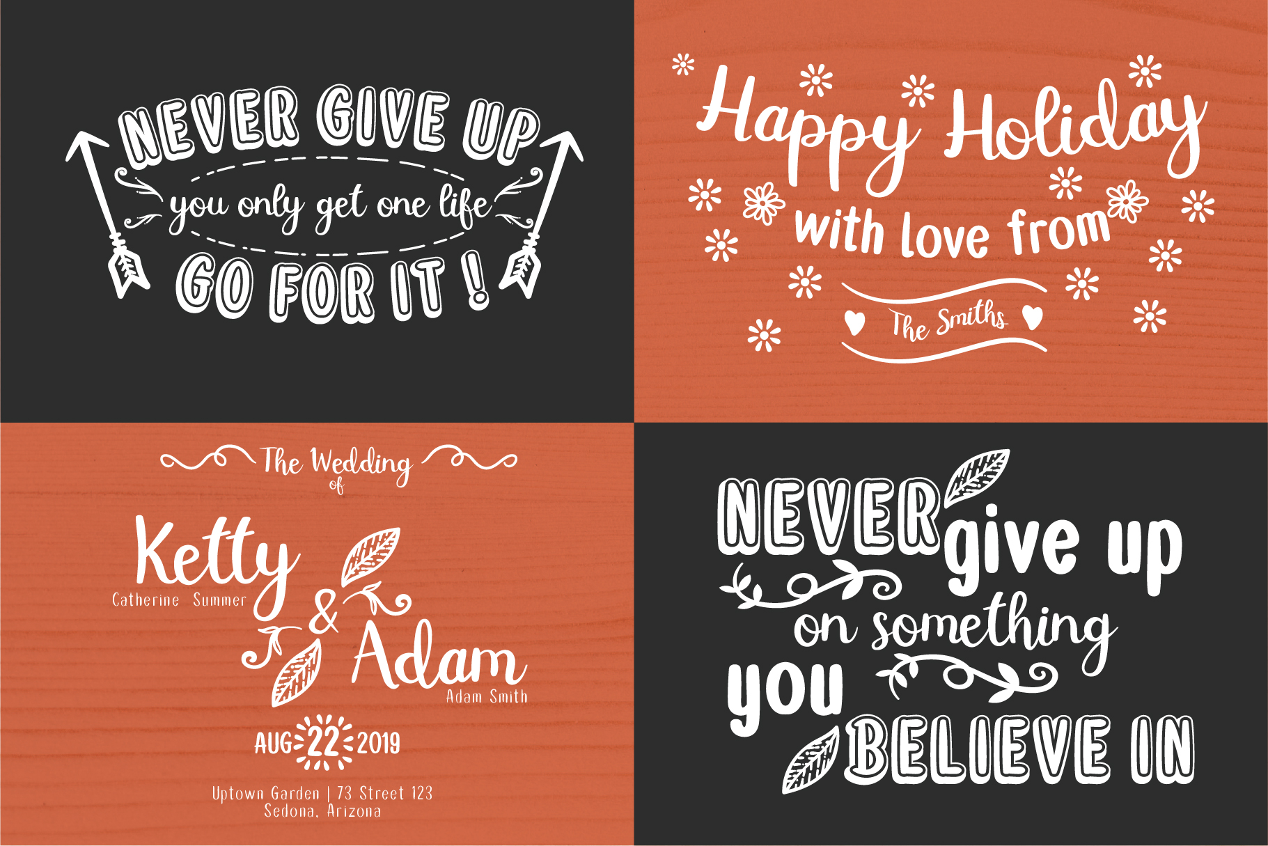 Double Smoothie Font Duo and Family example image 7