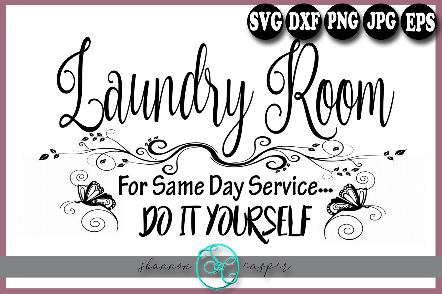 Laundry Room Sign SVG example image 1