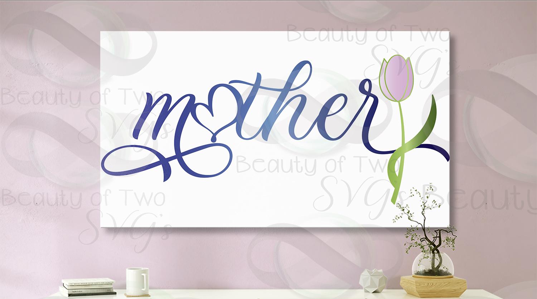 Mothers Day svg, Mother svg & png, Mom love flower svg, example image 4