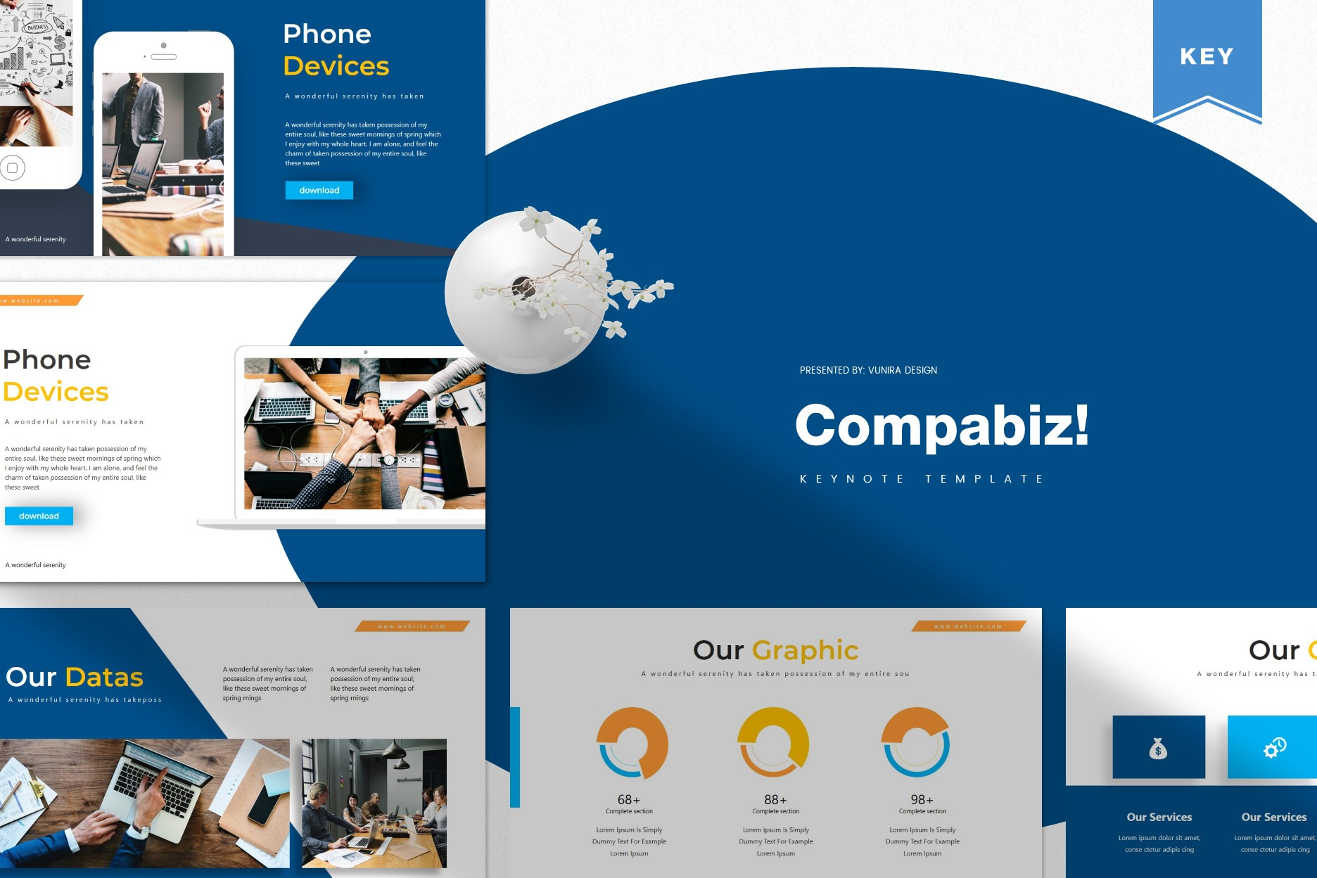 Compabiz! | Powerpoint, Keynote, GoogleSlides Template example image 2