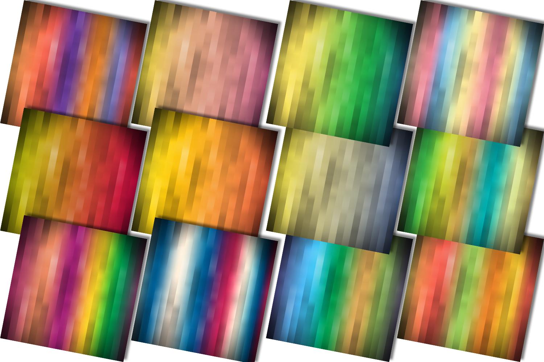 Rainbow Colored Stripe, Digital Scrapbook Paper,BLACK FRIDAY example image 3