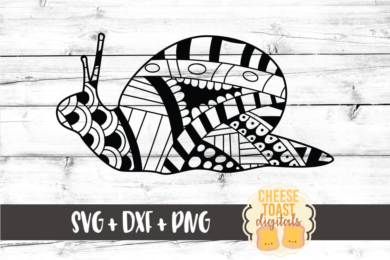 Snail - Zen Doodle Art - Animal SVG PNG DXF Files example image 1