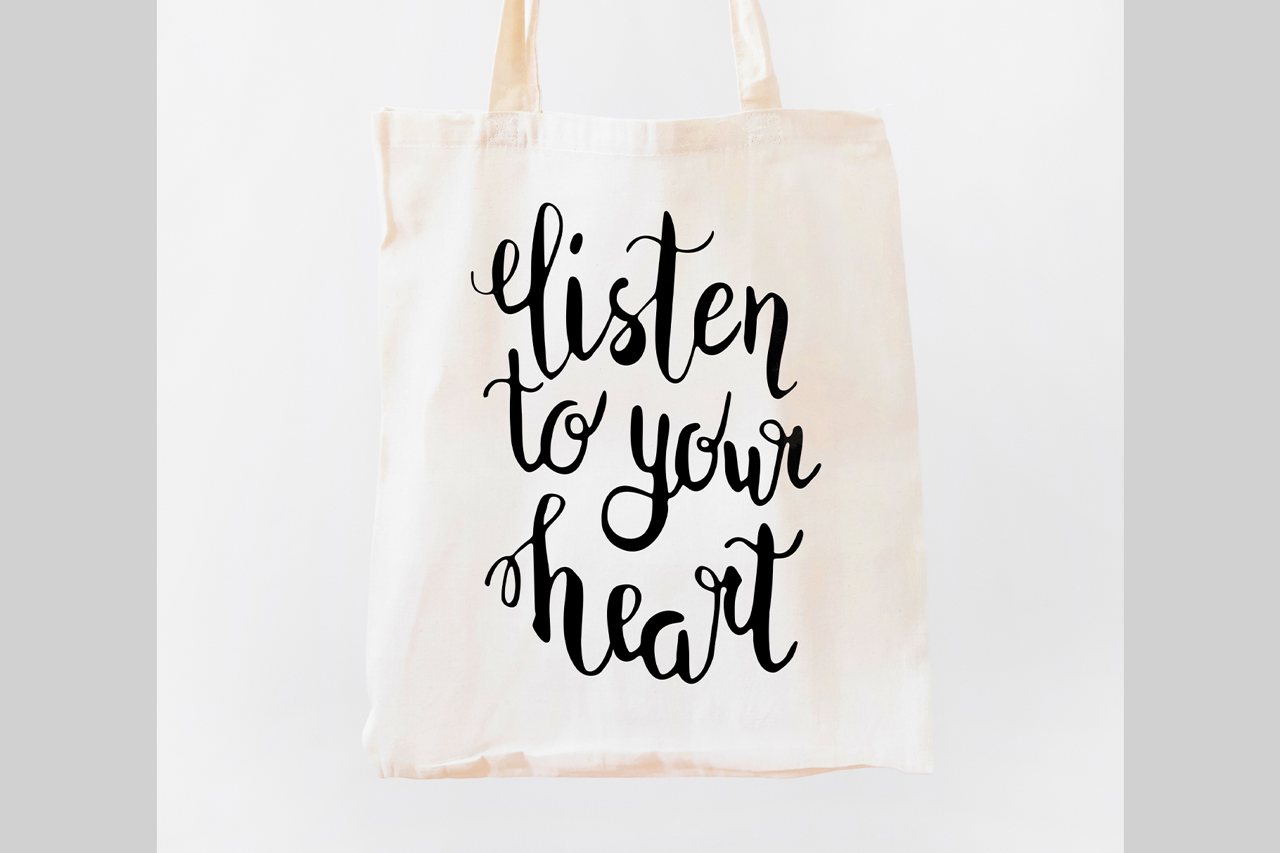 Listen to your heart lettering SVG PNG EPS JPG example image 2