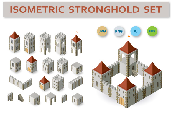 Fortress vector set example image 1
