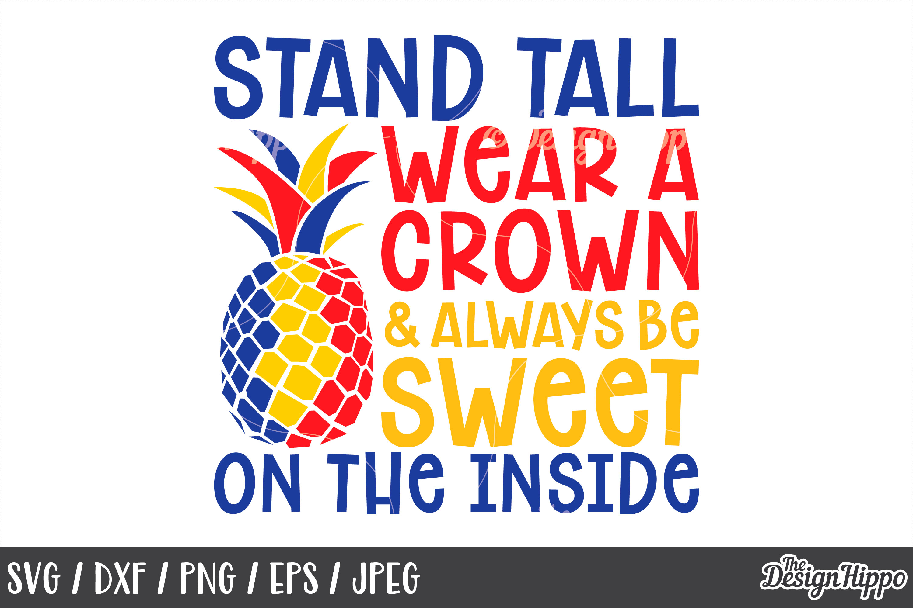 Autism, Be a Pineapple, Stand Tall Wear A Crown, SVG DXF PNG example image 1