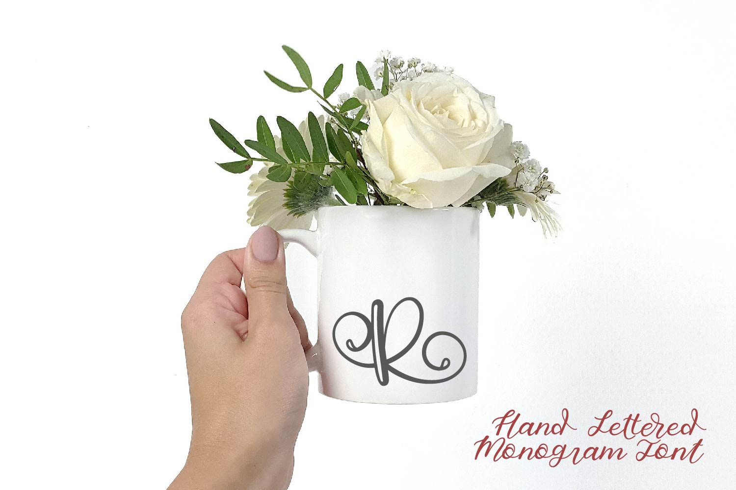 Hand Lettered Monogram Font - Perfect For Personalization! example image 5