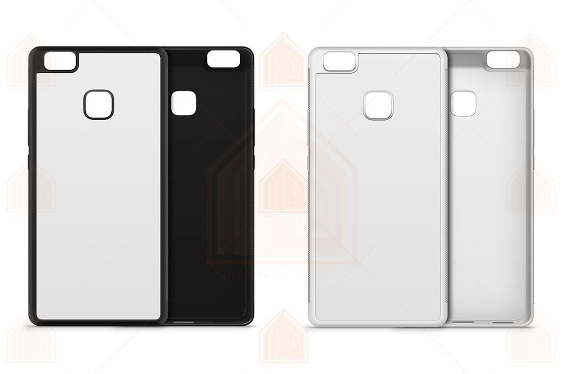 Huawei P9 Lite 2d RubberFlex Case Design Mockup Back-Front example image 2