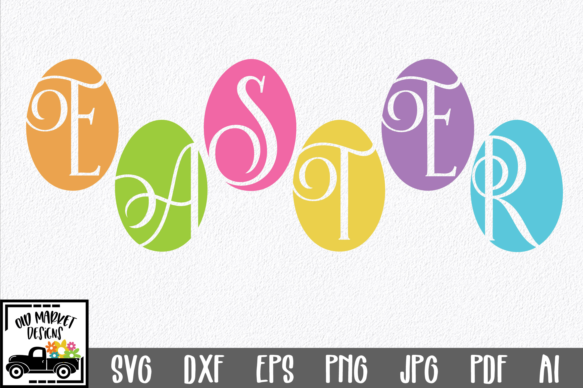 Easter SVG Cut File - Easter Eggs SVG DXF EPS PNG JPG AI example image 1
