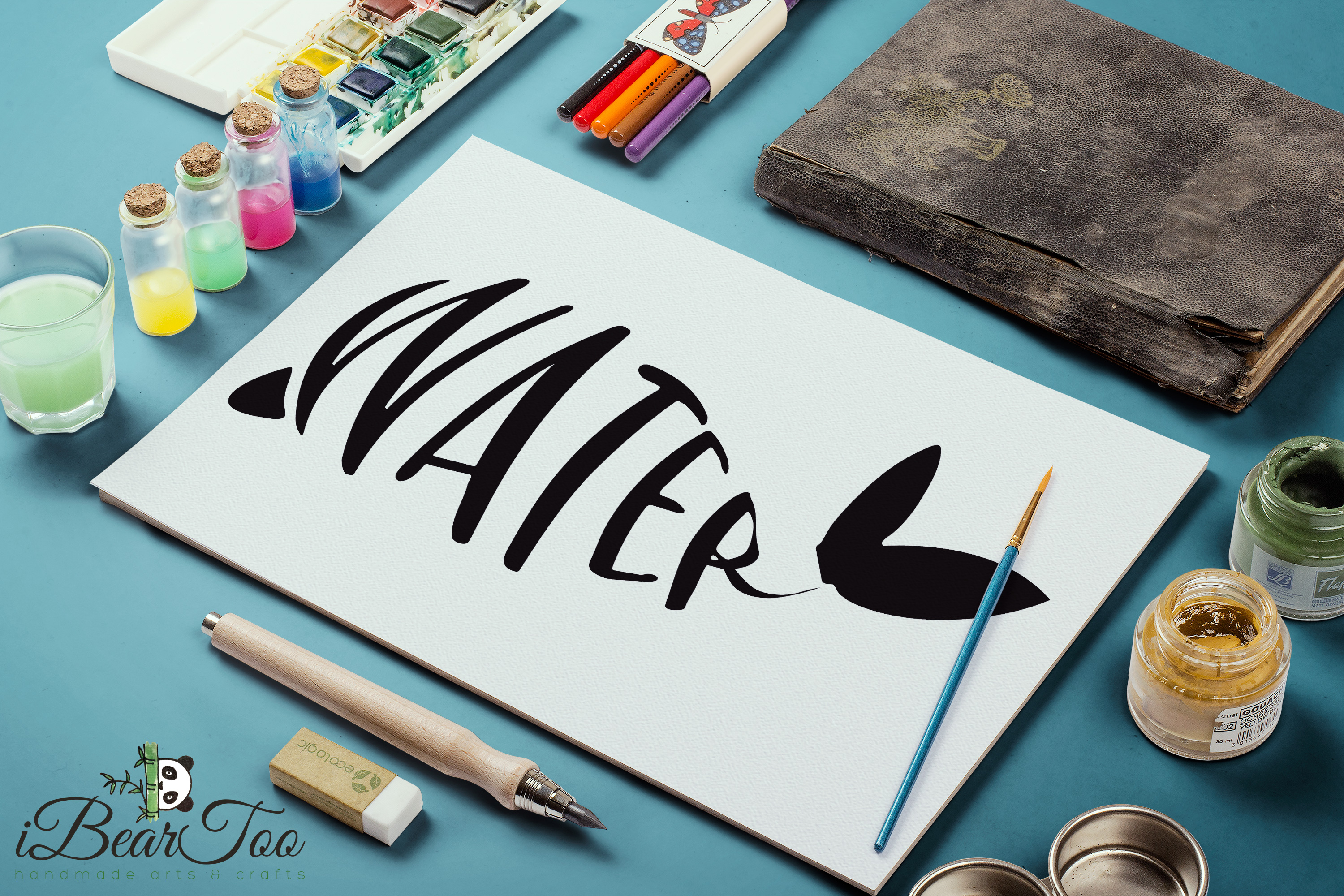 Whale SVG Water Clipart Wordart Vector Drawing Cut File example image 9