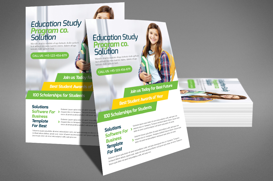 Kids School Flyer Psd example image 4