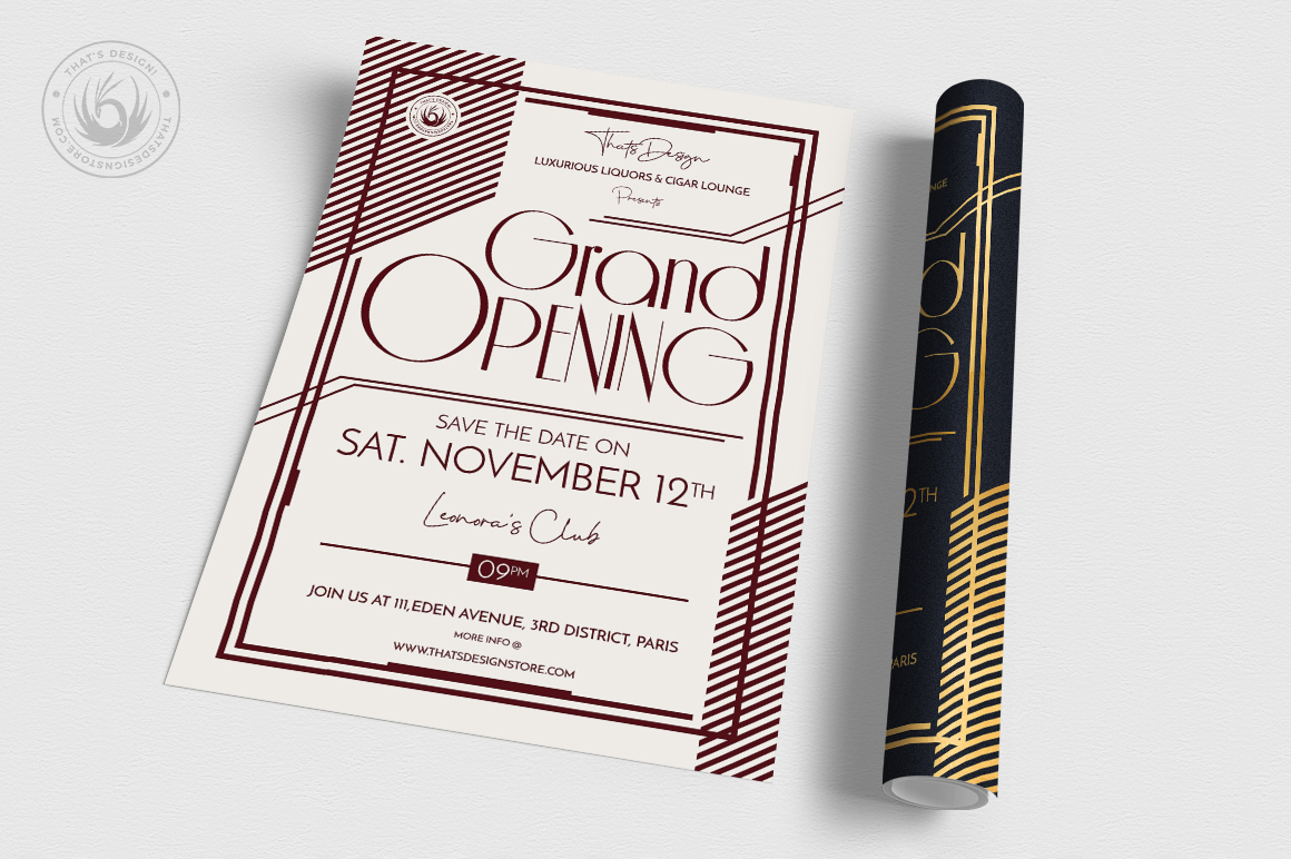Grand Opening Flyer Template V2 example image 3