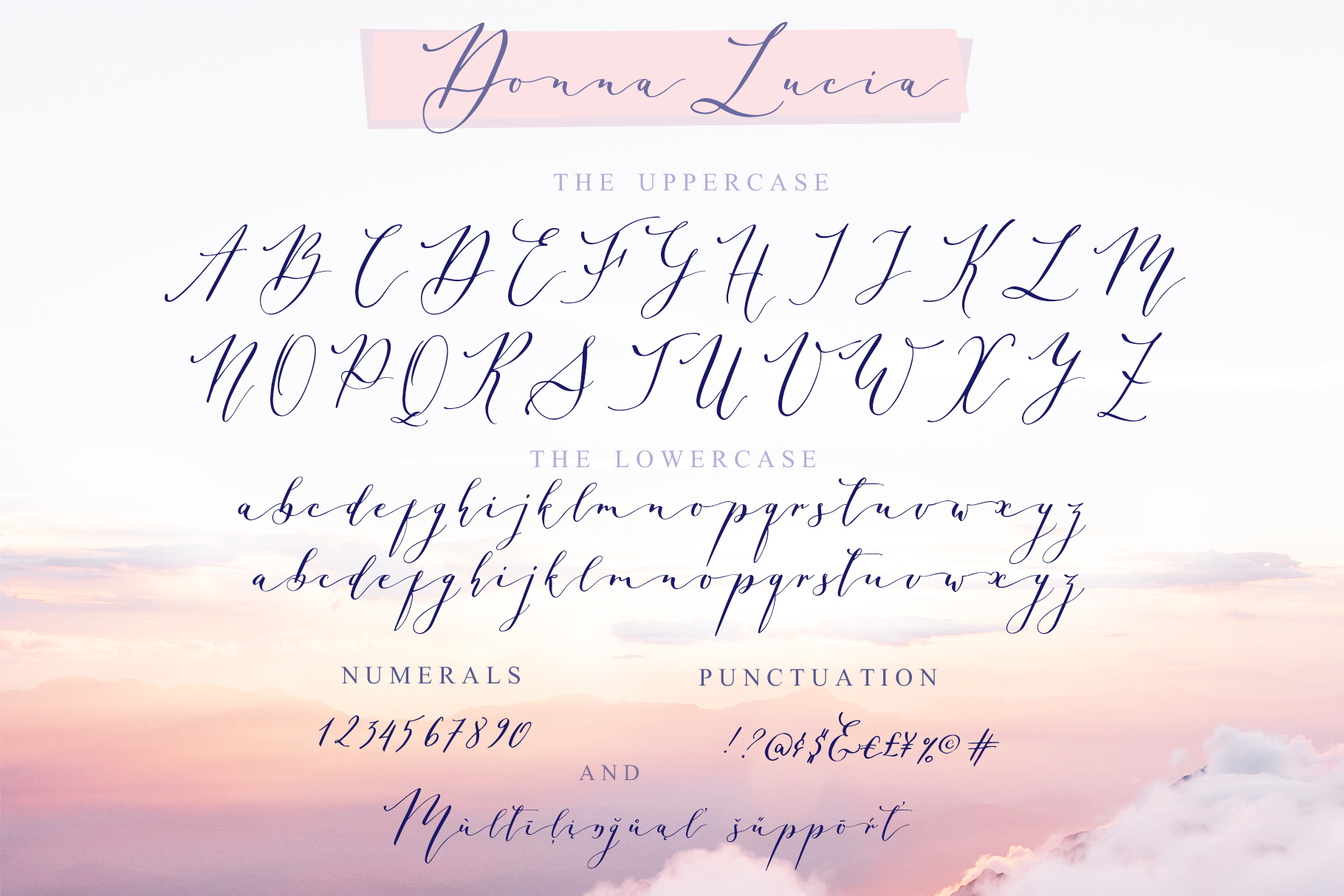 Donna Lucia font + Extras & Logo example image 13