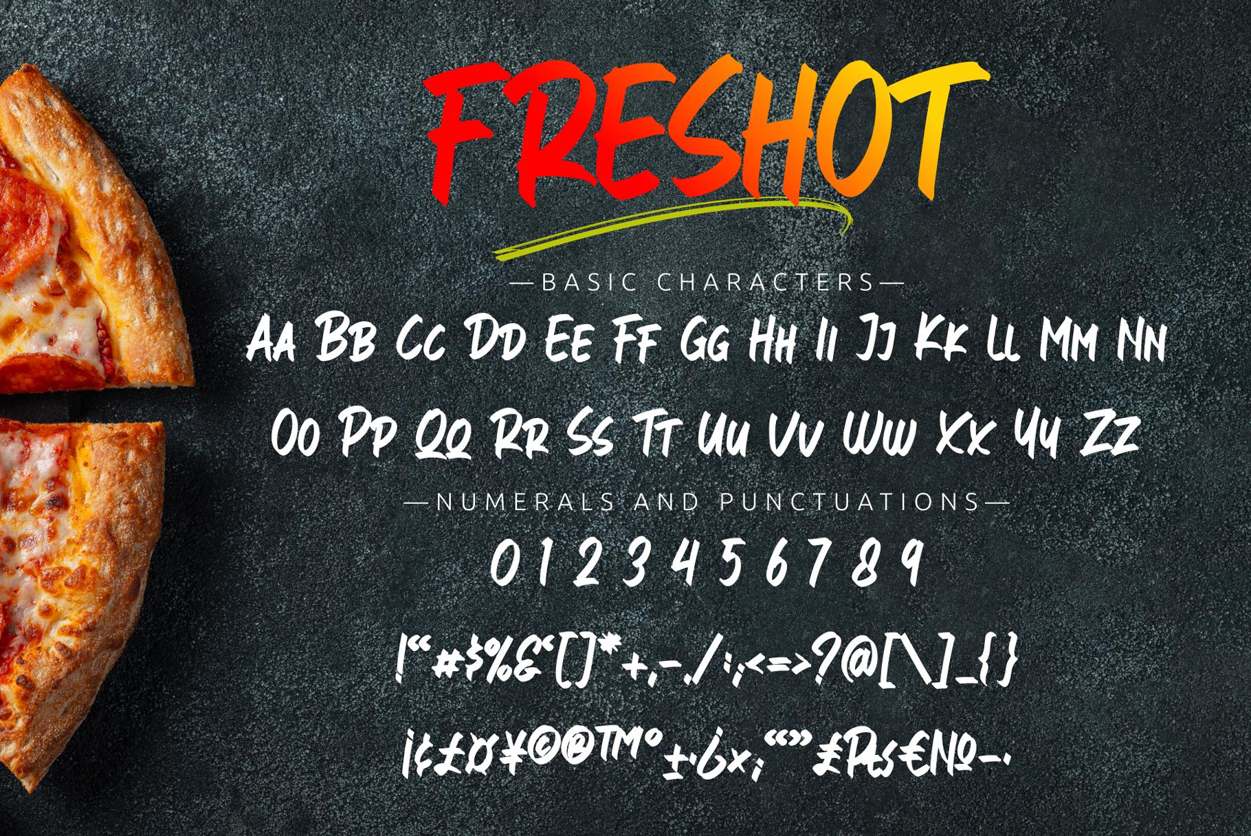 FresHot - Handwritten Display Font example image 10
