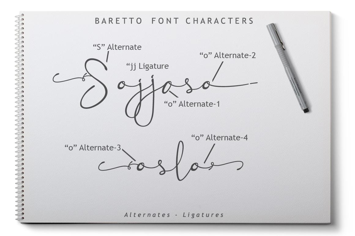 Baretto Font example image 8