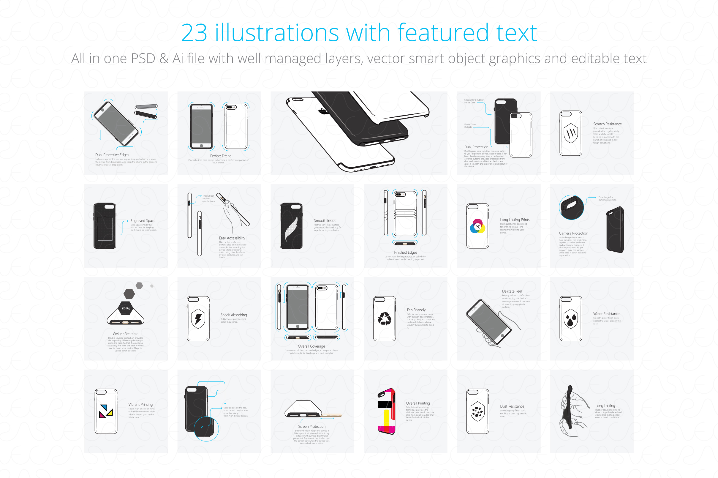 Dual Protective 3D Sublimation Tough Phone Case Feature example image 2