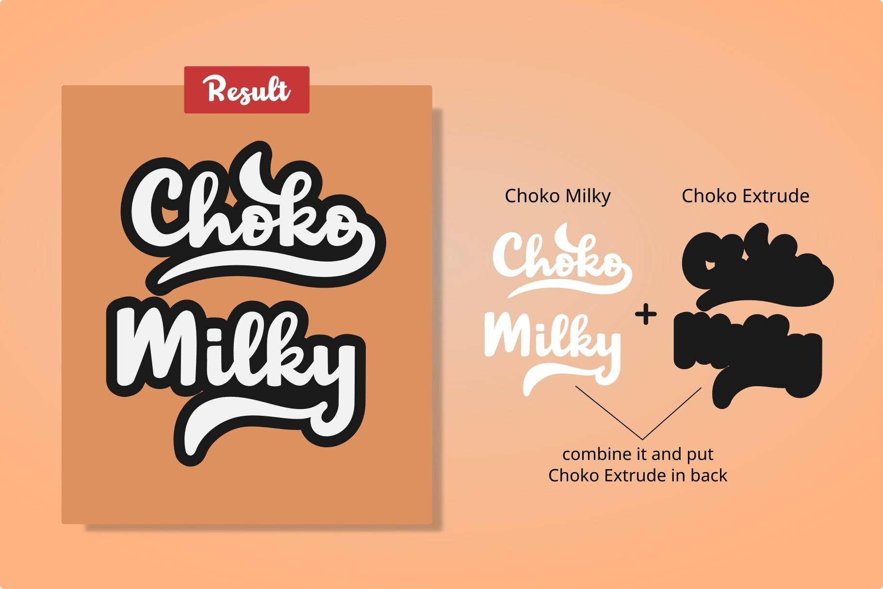 Choko Milky // Fun and Bold Fonts example image 2