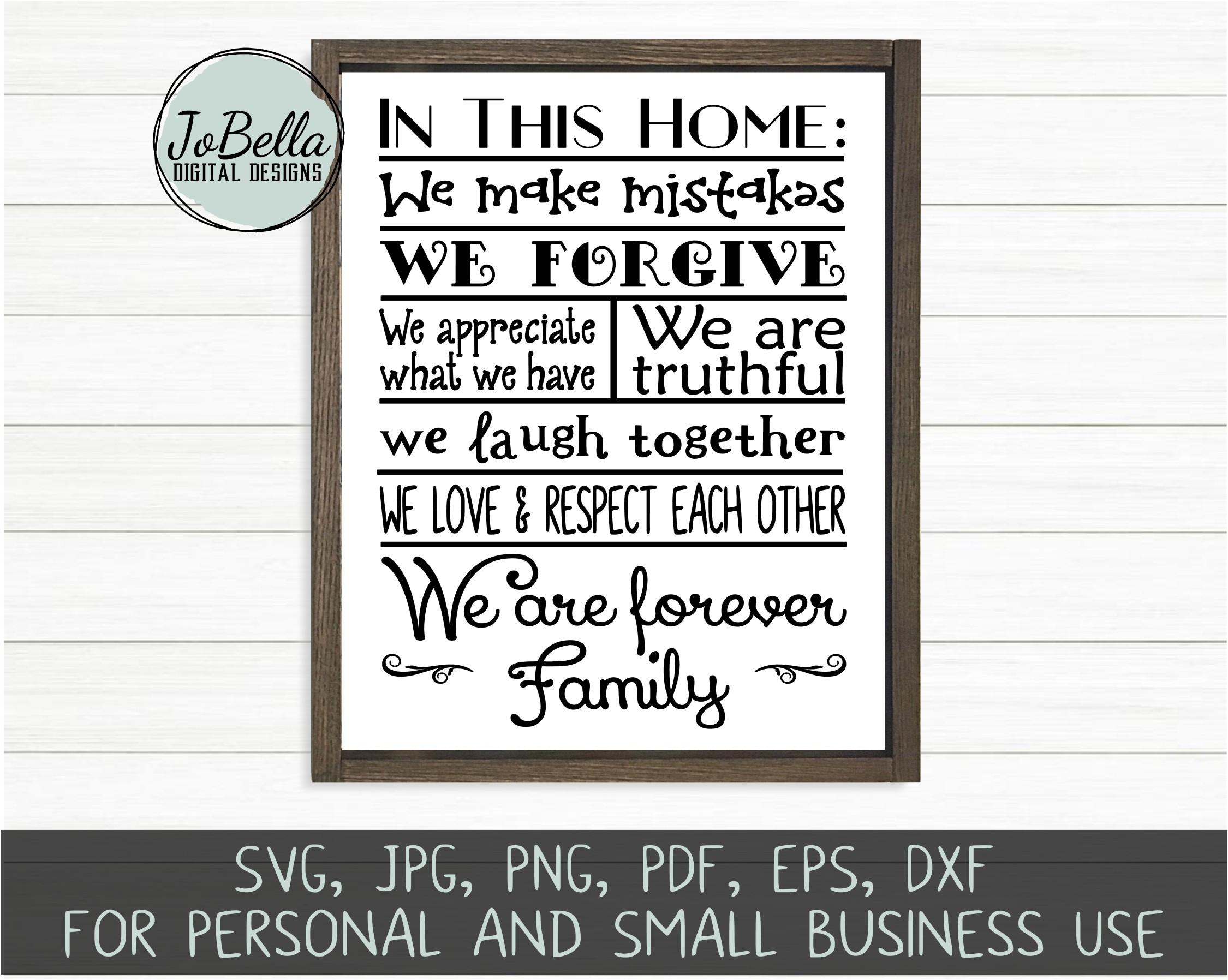 Home Wood Sign SVG Bundle - Farmhouse SVG Bundle example image 11