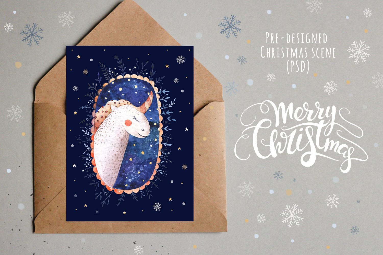 Vector Christmas lettering + bonus example image 6