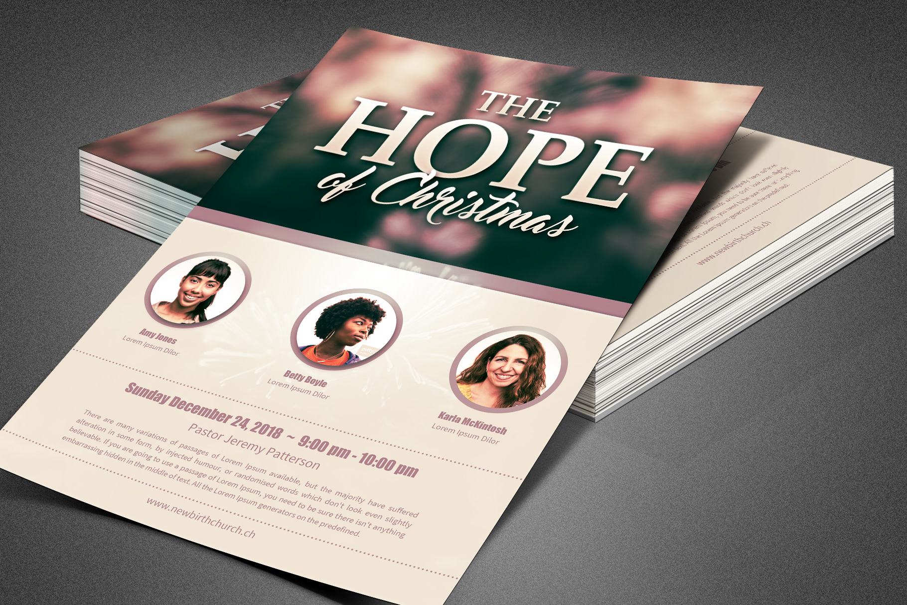 The Hope of Christmas Church Flyer example image 3