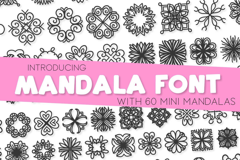 Mandala Font - A Font Full of Mini Mandalas example image 1