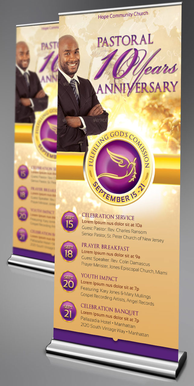 Clergy Anniversary Banner Template example image 3