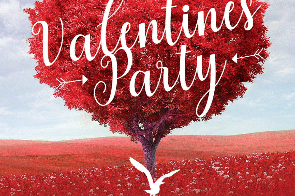 Tree Heart Valentines Party Ticket Template example image 8