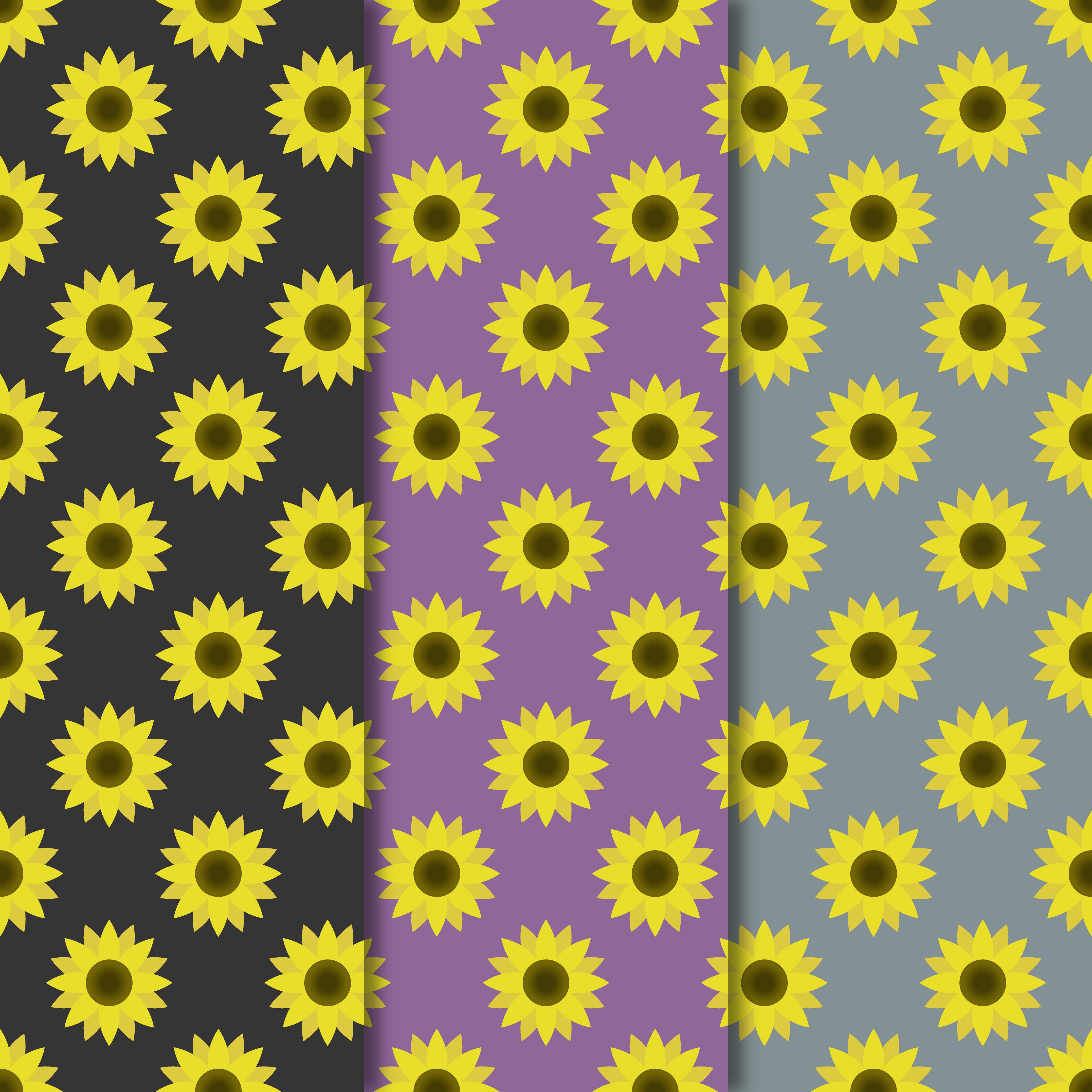 Blooming Sunflowers Digital Paper example image 2