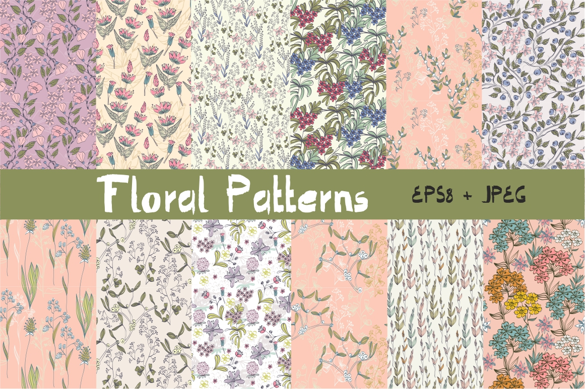 Spring floral patterns example image 1