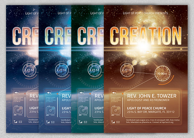 Creation Church Flyer Template example image 3