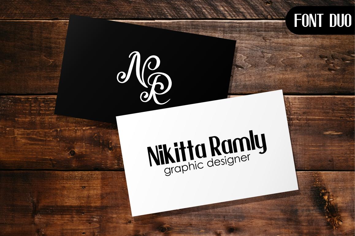 Beauty Nayshilla Font Duo example image 4