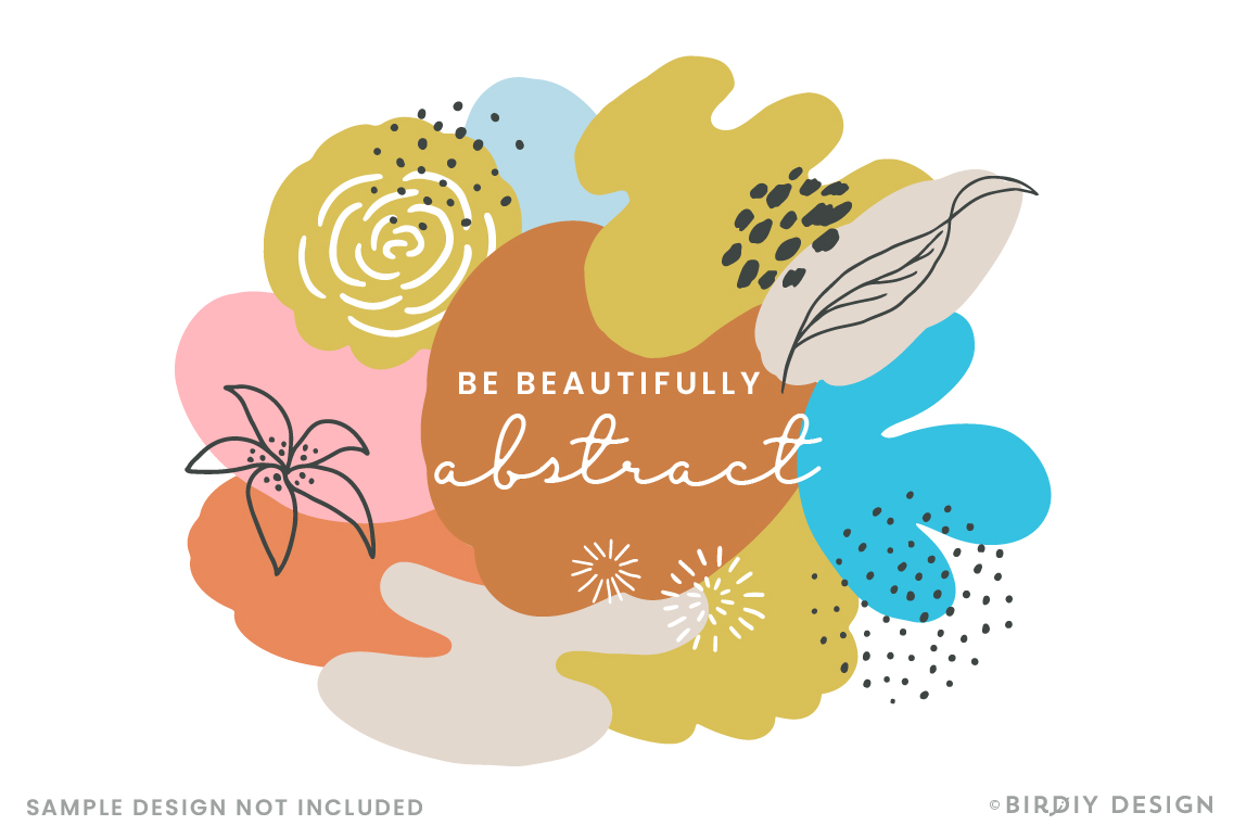 Doodle Abstract Floral Pattern Design Kit example image 4