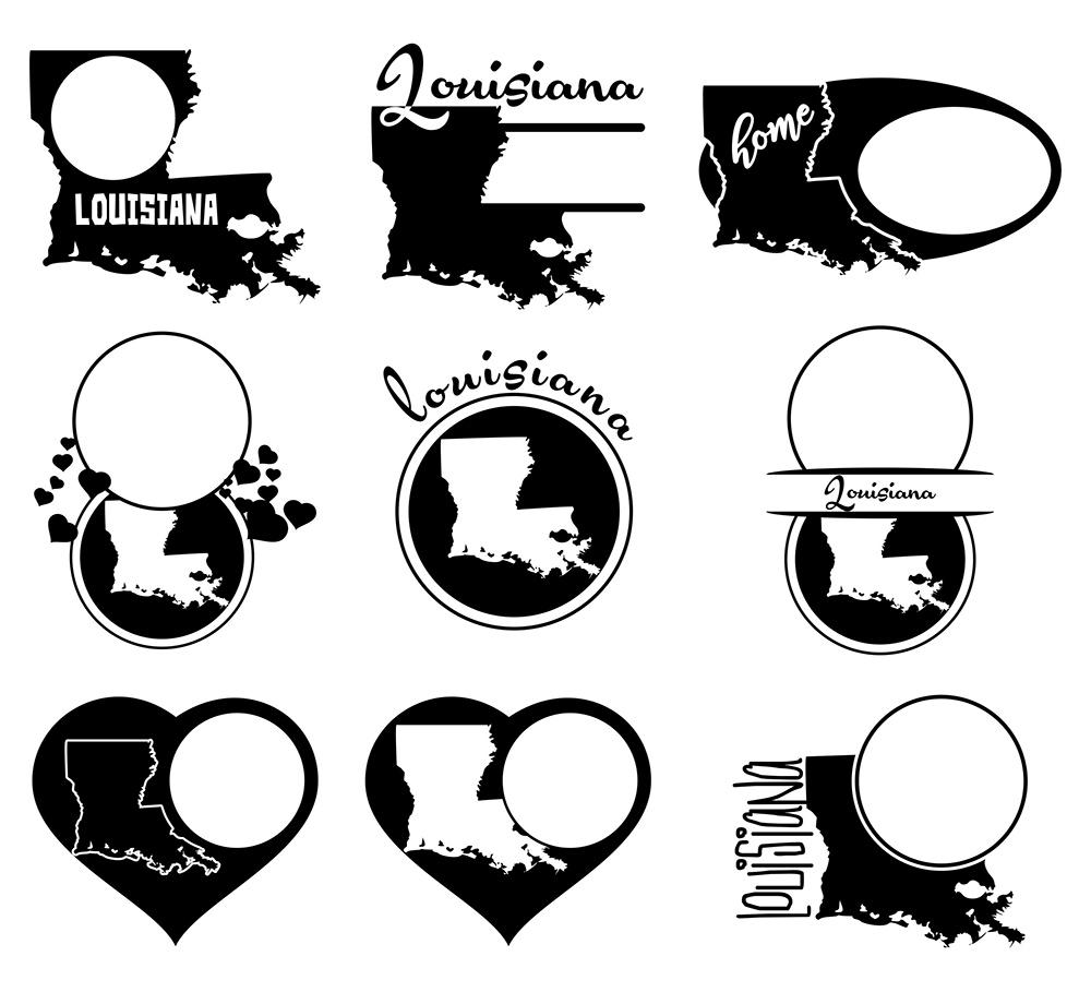 Louisiana Monograms SVG, JPG, PNG, DWG, CDR, EPS, AI example image 3