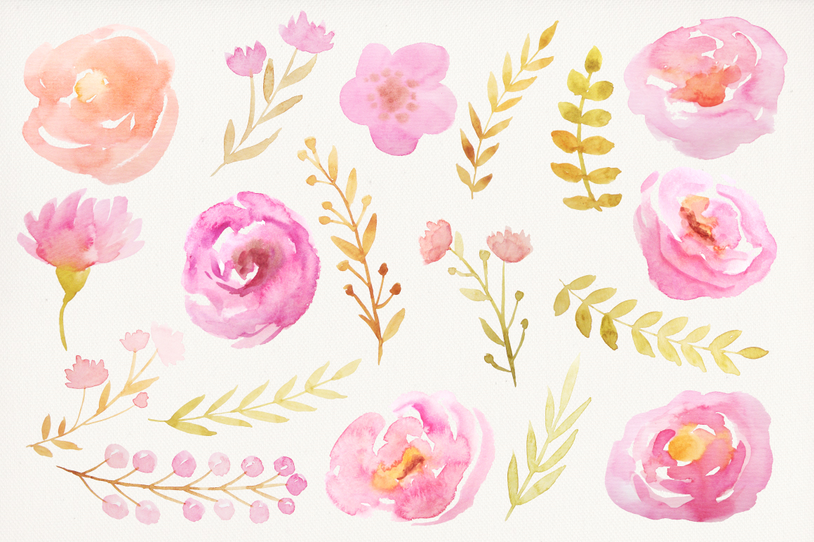 Watercolor Valentine Collection example image 5