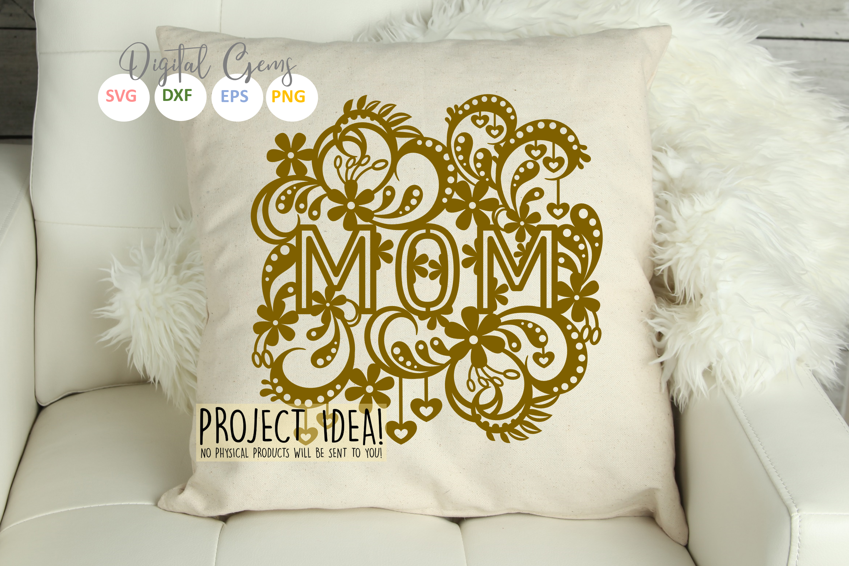 Mom paper cut design SVG / DXF / EPS files example image 4
