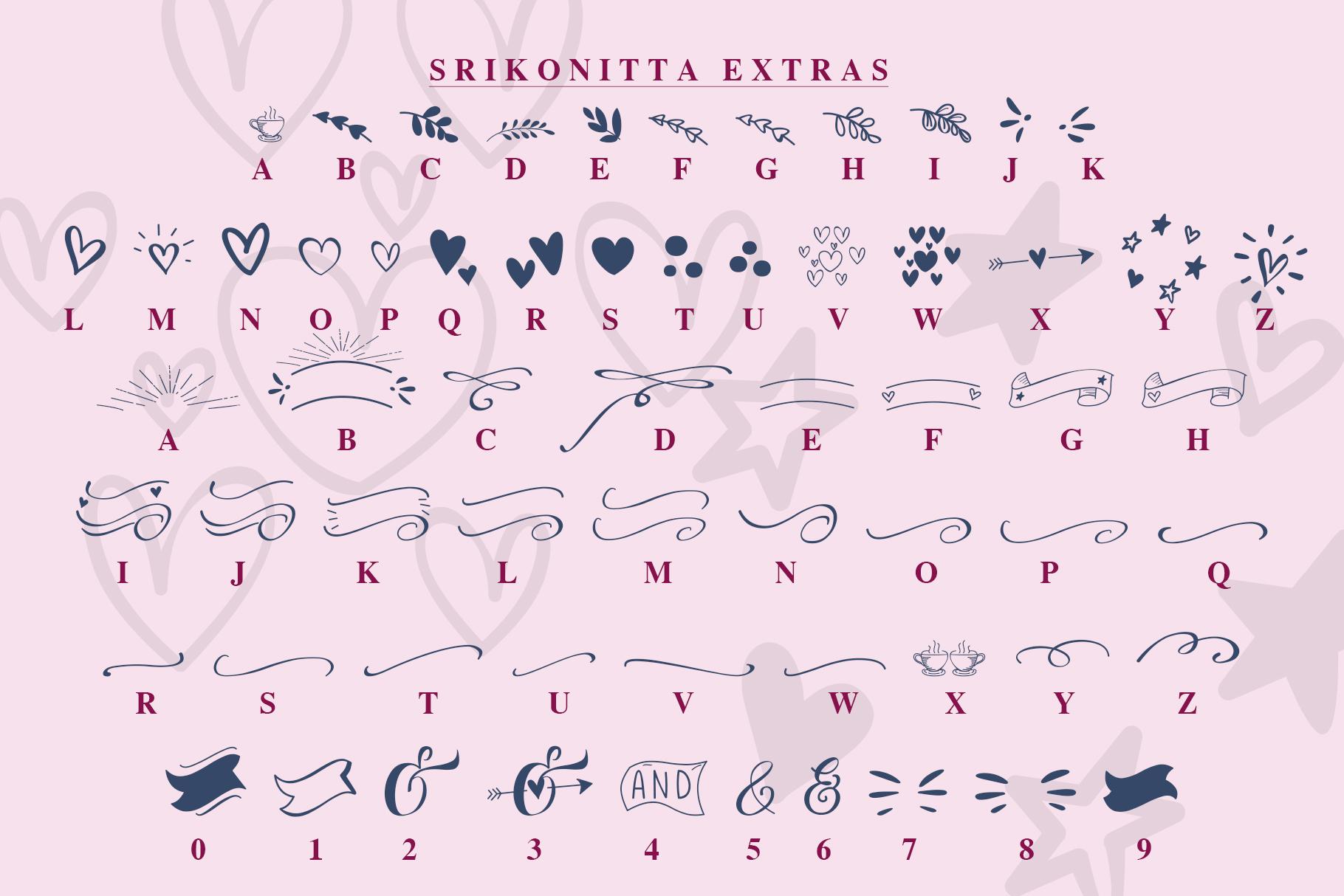Srikonitta Script  FREE Vectors example image 7