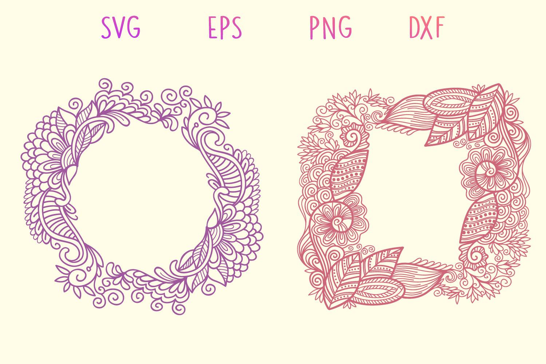 Zentangle Monogram - 5 SVG cut files example image 5