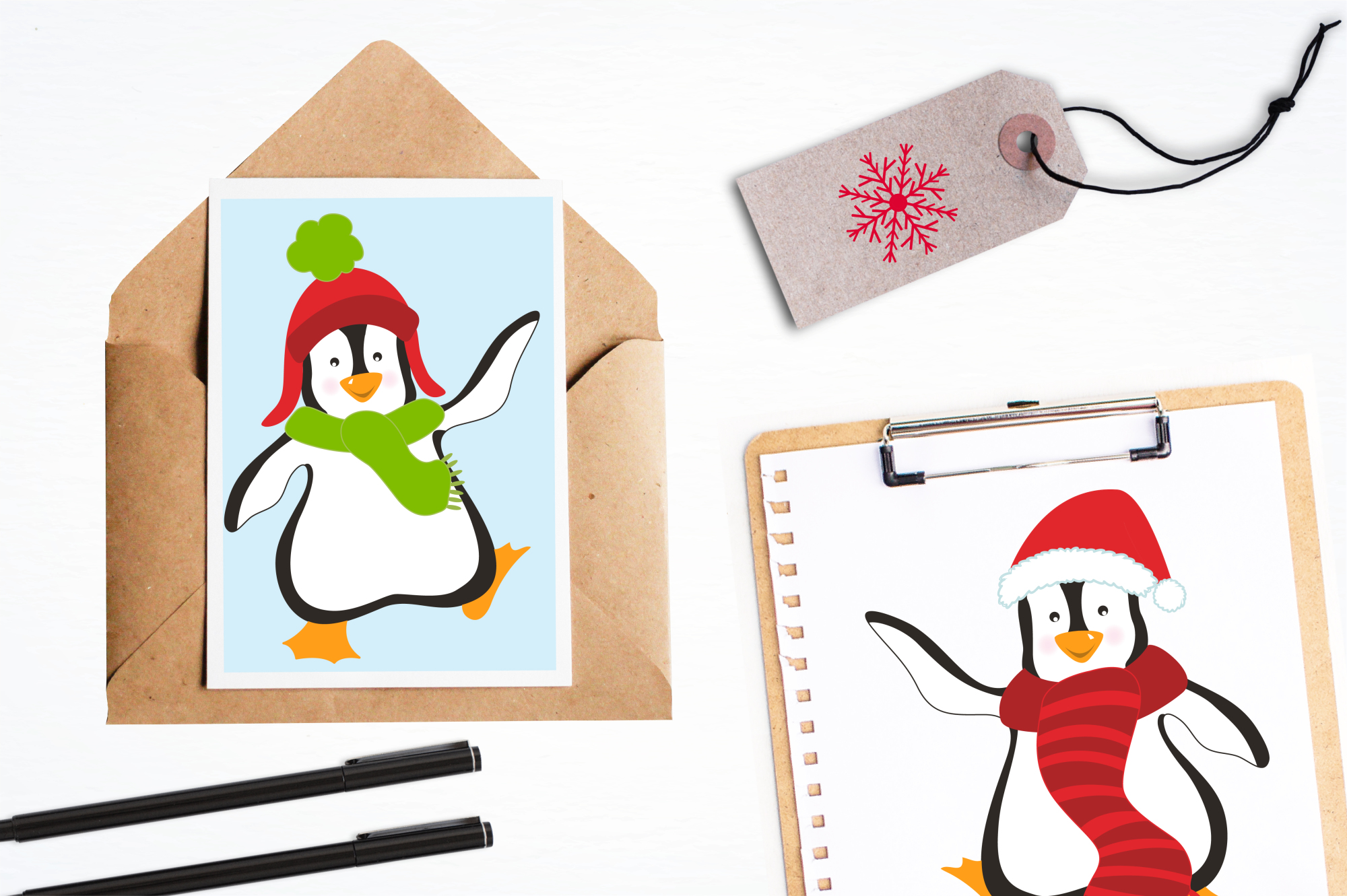 Christmas Penguins graphics and illustrations example image 4