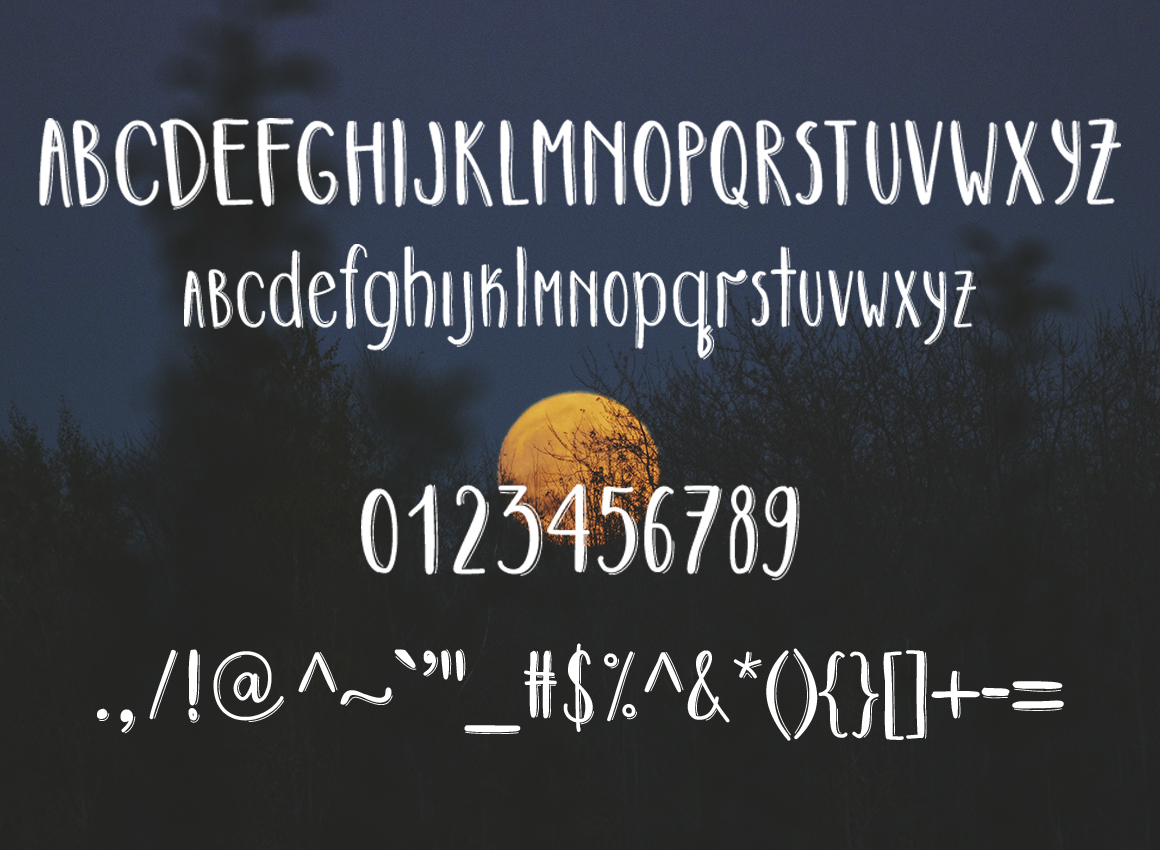 DARK SIDE - hand drawn font example image 5