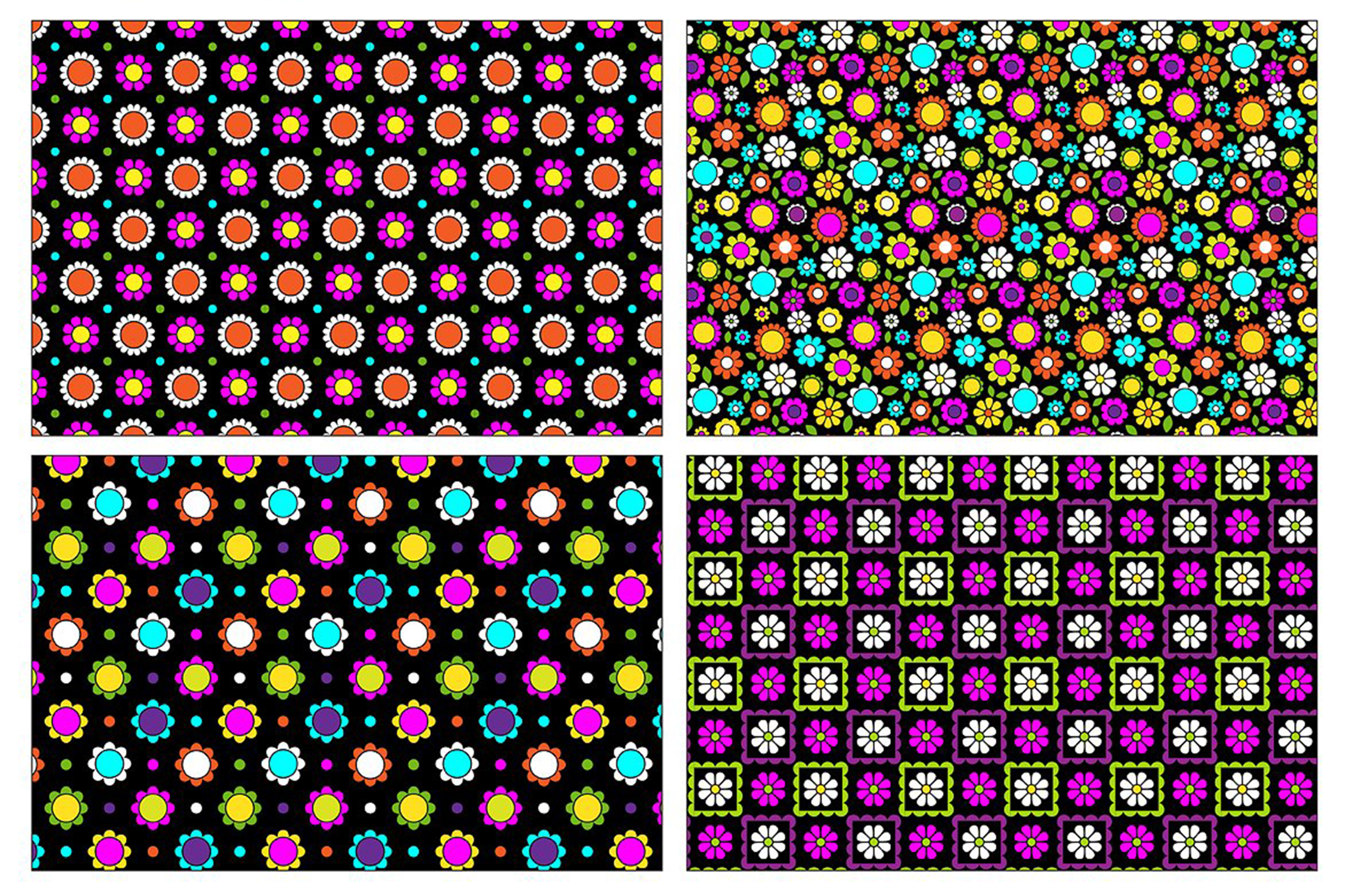 Seamless Paisleys & Flowers example image 4